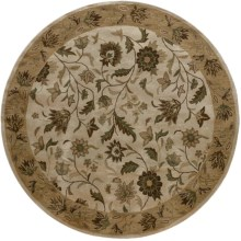 Rizzy Home Bentley Area Rug - 8' Round in Linen/Ivory - Overstock