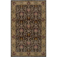 Rizzy Home Bentley Area Rug - 8x10', Hand-Tufted Wool in Brown - Closeouts