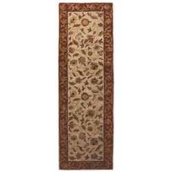 "Rizzy Home Bentley Floor Runner - 2'6""x8' in Ivory/Rust"