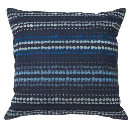 "Rizzy Home Blue-On-Blue Striped Throw Pillow - 20"" in Blue - Closeouts"