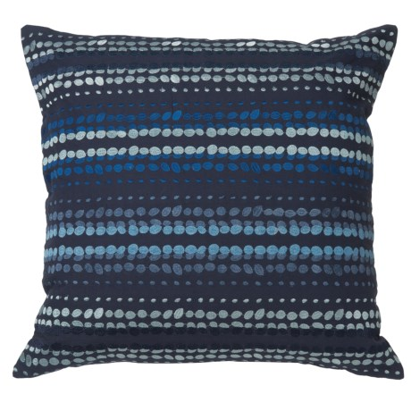 """Rizzy Home Blue-On-Blue Striped Throw Pillow - 20x20"""" in Blue"""