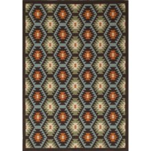 "Rizzy Home Boardwalk Indoor/Outdoor Area Rug - 4'11""x7'2"" in Southwest Honeycomb - Overstock"