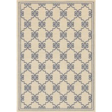 "Rizzy Home Boardwalk Indoor/Outdoor Area Rug - 4'11""x7'2"" in Beige/Blue Link - Overstock"