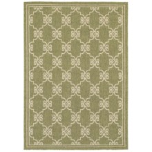 "Rizzy Home Boardwalk Indoor/Outdoor Area Rug - 4'11""x7'2"" in Green Link - Overstock"
