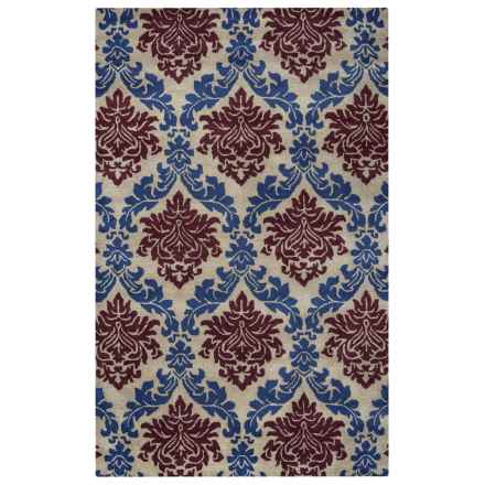 Rizzy Home Bradberry Downs Area Rug - 5x8', Hand-Tufted Wool in Red Floral - Closeouts