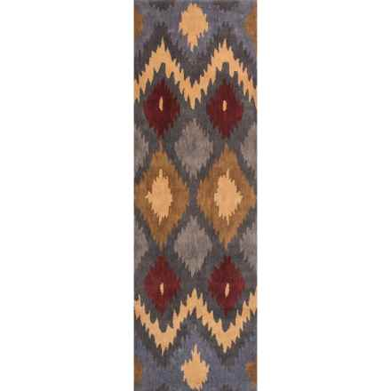 "Rizzy Home Bradberry Downs Floor Runner - 2'6""x8', Hand-Tufted Wool in Multi Diamonds - Closeouts"