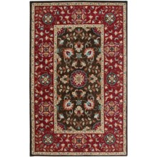 Rizzy Home Camden Area Rug - 9x12', Hand-Tufted Wool in Brown/Red - Closeouts