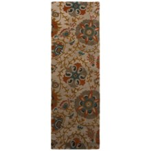 """Rizzy Home Camden Floor Runner - 2'6""""x8', Hand-Tufted Wool in Beige/Gray - Closeouts"""
