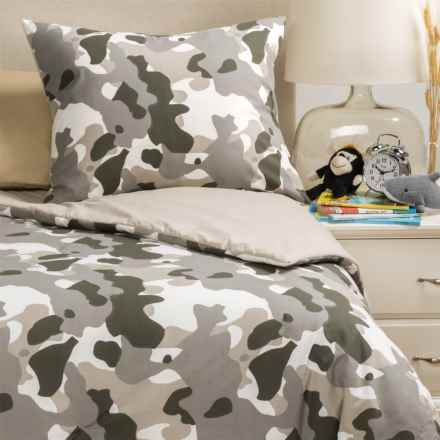 Rizzy Home Camo Comforter Set - Twin in Grey/Taupe - Closeouts