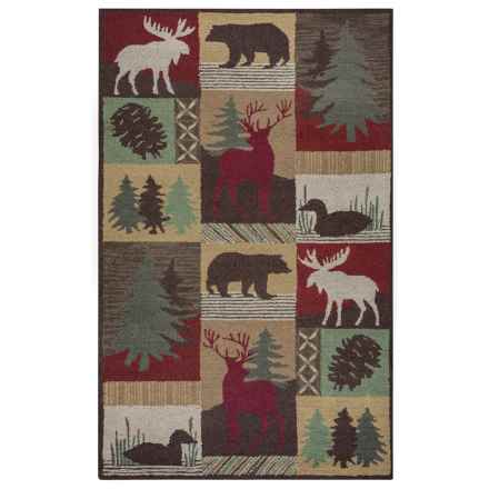 Rizzy Home Country Area Rug - 8x10', New Zealand Wool in Brown - Closeouts
