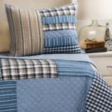 Rizzy Home Denim Patchwork Plaid Quilt Set - Twin