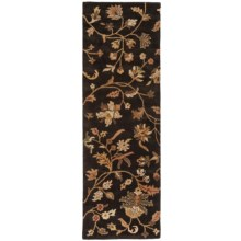 """Rizzy Home Destiny Floor Runner - 2'6""""x8', Hand-Tufted Wool in Black - Closeouts"""