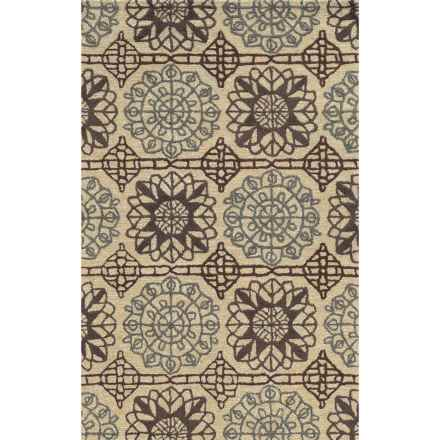 Rizzy Home Eden Harbor Area Rug - 5x8', Tufted Wool in Dusk - Closeouts