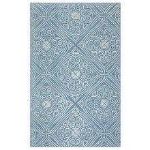 Rizzy Home Eden Harbor Area Rug - 5x8', Tufted Wool in Light Blue - Closeouts