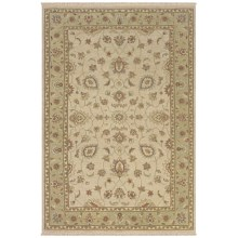 Rizzy Home Elegance Accent Rug - 2x3', Hand-Woven Wool in Beige/Red - Closeouts