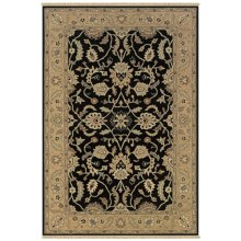 Rizzy Home Elegance Accent Rug - 2x3', Hand-Woven Wool in Black - Closeouts