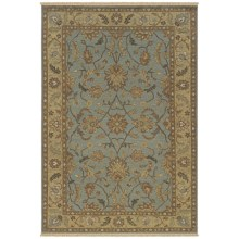 Rizzy Home Elegance Accent Rug - 2x3', Hand-Woven Wool in Light Blue - Closeouts