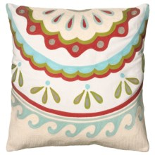 "Rizzy Home Embroidered Decor Pillow - 18x18"" in Waves - Closeouts"
