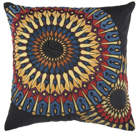 Rizzy Home Embroidered Sunburst Decor Pillow 20x20