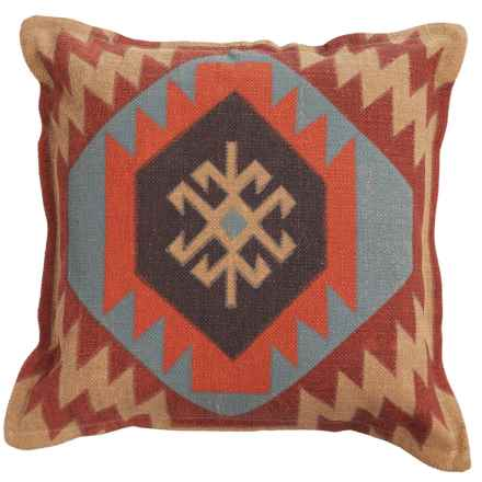 "Rizzy Home Geometric Decor Pillow - 26x26"" in Red/Grey Multi - Closeouts"