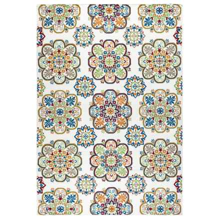 """Rizzy Home Glendale Indoor/Outdoor Accent Rug - 3'3""""x5'3"""" in Multi Pattern - Closeouts"""