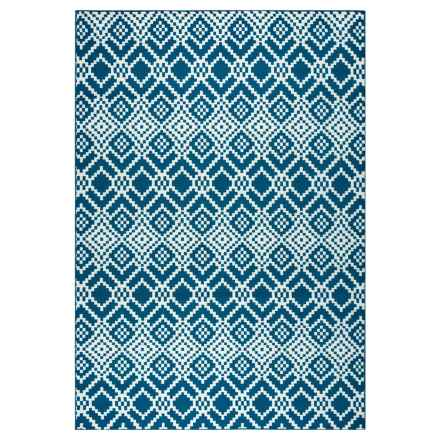 "Rizzy Home Glendale Indoor/Outdoor Accent Rug - 3'3""x5'3"" in Navy Pattern - Closeouts"