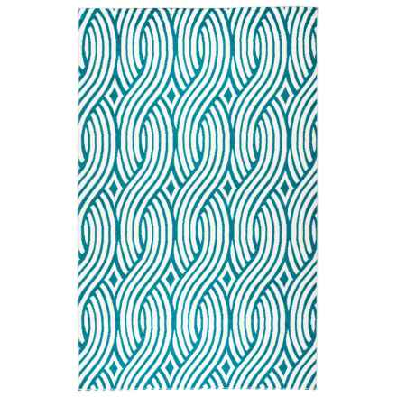 "Rizzy Home Glendale Indoor/Outdoor Area Rug - 5'3""x7'7"" in Aqua/Blue Weave - Closeouts"