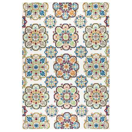 "Rizzy Home Glendale Indoor/Outdoor Area Rug - 5'3""x7'7"" in Multi Pattern - Closeouts"
