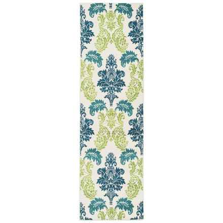"Rizzy Home Glendale Indoor/Outdoor Floor Runner - 2'3""x7'7"" in Multi Ikat - Closeouts"