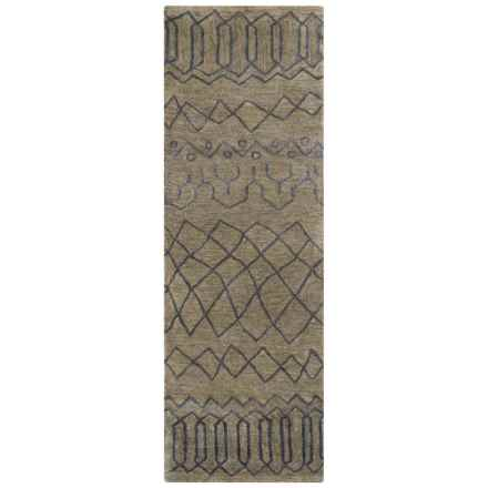 "Rizzy Home Highland Floor Runner - 2'6""x8', Hand-Tufted Wool in Grey - Closeouts"