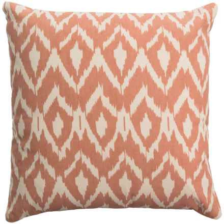 "Rizzy Home Ikat Throw Pillow - 18x18"" in Orange/Cream - Closeouts"