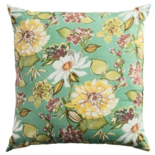 "Rizzy Home Indoor-Outdoor Floral Decor Pillow - 22x22"" in Fiji - Closeouts"
