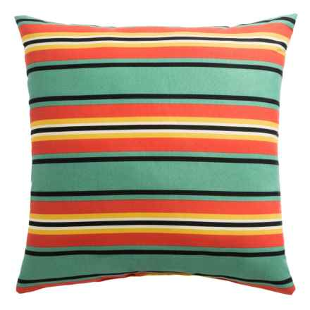 """Rizzy Home Indoor-Outdoor Striped Decor Pillow - 22x22"""" in Multi - Overstock"""