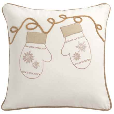 "Rizzy Home Mittens Decor Pillow - 20x20"" in Ivory - Closeouts"
