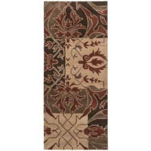 "Rizzy Home Native Floor Runner - Wool, 2'6""x6' in Brown/Red - Closeouts"