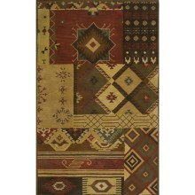 "Rizzy Home Native Hand-Tufted Wool Accent Rug - 3'6""x5'6"" in Brown Patchwork - Overstock"