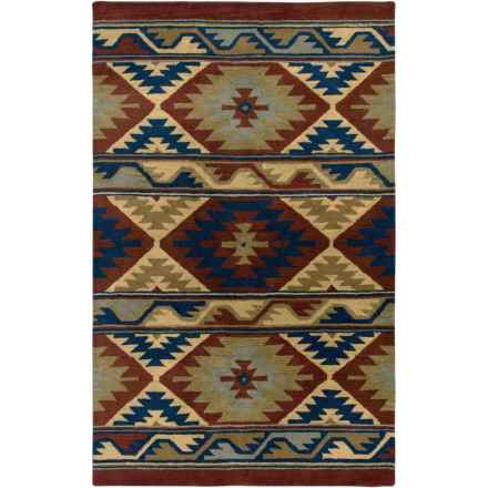 "Rizzy Home Native Hand-Tufted Wool Accent Rug - 3'6""x5'6"" in Tempe - Closeouts"