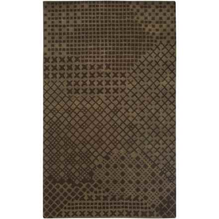 Rizzy Home Pandora Accent Rug - Hand-Tufted Wool, 3x5' in Brown - Closeouts