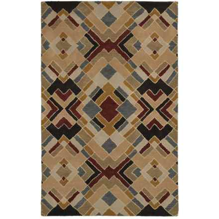 Rizzy Home Pandora Accent Rug - Hand-Tufted Wool, 3x5' in Diamond Multi - Closeouts