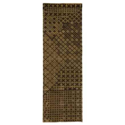 "Rizzy Home Pandora Floor Runner - Hand-Tufted Wool, 2'6""x8' in Brown - Closeouts"