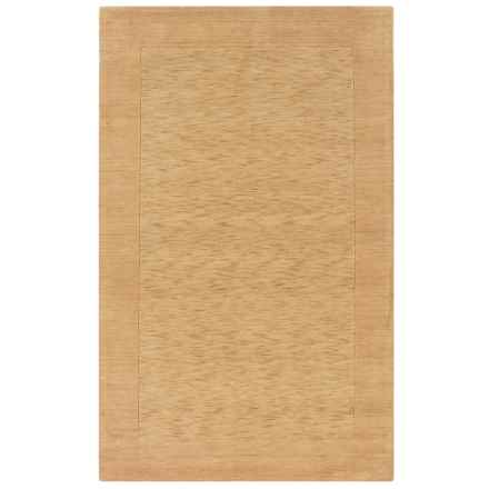 Rizzy Home Platoon Area Rug - 5x8', Hand-Tufted Wool in Tan Border - Closeouts