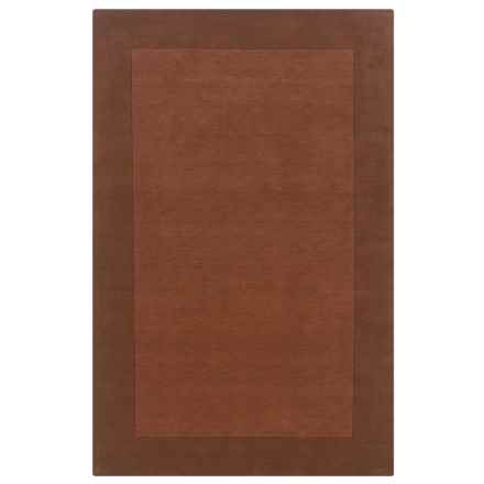 Rizzy Home Platoon Area Rug - 5x8', Hand-Tufted Wool in Terracotta - Closeouts