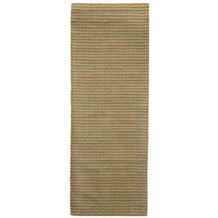 """Rizzy Home Platoon Floor Runner -2'6""""x8', Hand-Tufted Wool in Tan/Green - Closeouts"""