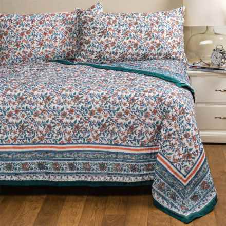Rizzy Home Priscilla Quilt Set - King in Rust/Ivory - Closeouts
