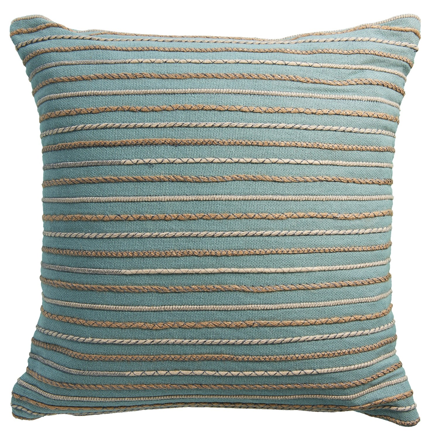 "Rizzy Home Rope Stripe Decor Pillow - 20x20"" - Save 20%"