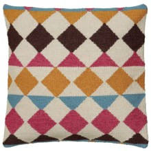 "Rizzy Home Saddle Blanket Decor Pillow - 18x18"" in Multi Diamonds - Closeouts"