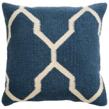 "Rizzy Home Saddle Blanket Decor Pillow - 18x18"" in Navy Moroccan - Closeouts"