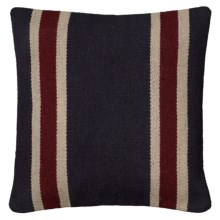 "Rizzy Home Saddle Blanket Decor Pillow - 18x18"" in Navy/Red Stripe - Closeouts"