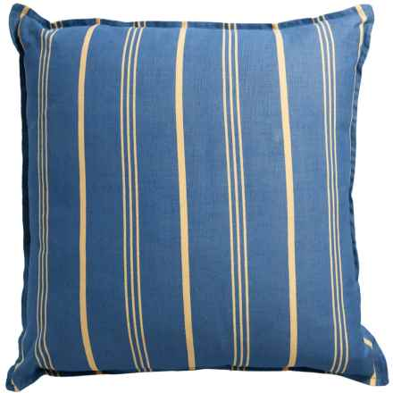 "Rizzy Home Stripe Decor Pillow - 18x18"" in Blue - Closeouts"
