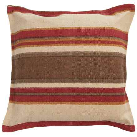 "Rizzy Home Stripe Decor Pillow - 26x26"" in Red/Brown Multi - Closeouts"